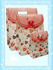 decorative gift paper hand bag with ribbon