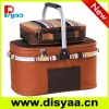 Basket cooler bag for picnic/fashion lunch bag