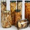 mixed mushroom in glass jar