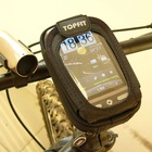 Bicycle touch phone bag package iphone, ipod, htc mobile phone holder GPS frame