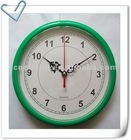 8 inch plastic wall clock, round shape wall clock