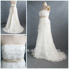 WR-018 Tiered Strapless Lace Real Dress For A Wedding