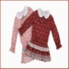 Latest Design Long Sleeve Flower Printed Children Dress Model