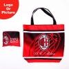 hot sell ac milan sports foldable shopping bag