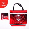 hot sell ac milan sports foldable shopping bag