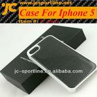 Carbon Fiber Case For Iphone 5 Black
