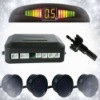 Car Reverse Rear Radar System 4 Blue Wire Parking Sensor With LED Display BiBi Buzzer Kit