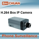 H.264 IP Box camera with WiFI/3G alarm, audio, USB and SD
