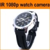 professional full hd 1080p waterproof watch camera, IR night vision