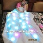 beautiful and colorful shining led blanket light