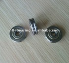 Guide way v groove track roller bearing