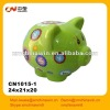 Hot selling green ceramic piggy bank