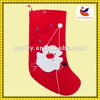 Santa Claus Style Non-woven Material Red Color Christmas Sock