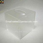 square acrylic tissue box