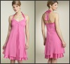 Nice and Cheap CD-167 Chiffon Halter Girls Cocktail Party Dress