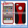 Two-tone Design Matte Hard Case For iPhone 4G Red and Black