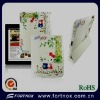 Cute cat pattern,rotating Stand PU Leather Case for ipad 2 / new ipad