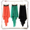 New Women Chiffon Sexy Elegant Asymmetric Elastic Waist Band Long Maxi Skirt