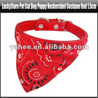 Cute Adjustable Pet Dog Puppy Cat Bandana Scarf Collar Small Size Comfy Red, YFP137A