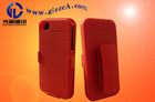 combo holster case red for iphone5 ,4gs