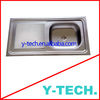 Double drainer single bowl sink stainless steel for kitchen ,YK-1053R