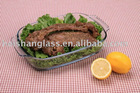 rectangular tempered glass bake dish