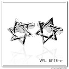 Double Triangles Six Rayed Star of David Cuff links,Cufflink Findings