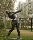 Bronze man & golfing statue