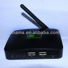 Android 2.3 Internet Smart Google VIA WM 8710 TV Box WIFI Media Player 1080P Built in ethernet support USB 3G dongle GV-11B