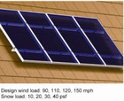 Photovoltaic stents for sloping roofs of Roof mount