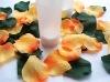 Silk rose petals for wedding decoration