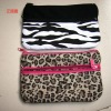 2012 new designer panther print canvas stationery bag from yiwu China