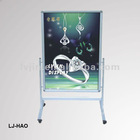metal frame info stand floor wheel display stand