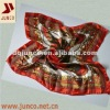 POLYESTER 1219 new fashion scarf,polyester satin printed flower square scarf