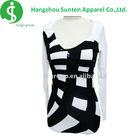 women's newest fashion deep v-neck collar long sleeve dress