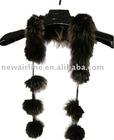 ladies brown fox fur scarves