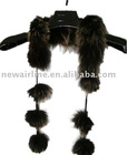 ladies brown fox fur scarves