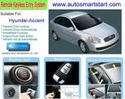 Push Button Start Car RFID Keyless Entry Remote Engine Start Smart Car Alarm System for Hyundai Accent