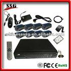 Residential security system H.264 DIY CCTV DVR Kit with 8-channel DVR, 8 Cameras built in GSM burglar alarm system