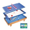 Multifuctional table including billiard pingpong and hockey