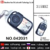 Hot-sale product 2 Button Slide-cover Remote Control(NO.1,fixed-code) /042031