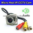 6 IR LED Micro Metal Bracket Mount CCTV Surveillance Camera with Audio