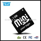 Full Capacity Mobile Phone 1GB Mini SD Memory Card