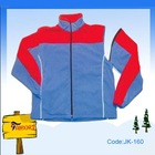 Unisex blue contrast red polar fleecy jacket(JK-160)