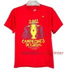 2012 Spain champion tee shirt,team football t shirts wholesale,newest cheap tee shirt