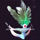 half face halloween feather mask