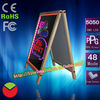 led writing board luxurious wooden frames double side