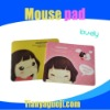 Lovely cartoon girl mouse pad