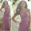 2013 latest design straps chiffon Bridesmaid Dress WLE204