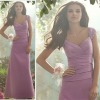 2013 latest design straps chiffon Bridesmaid Dress WLE204